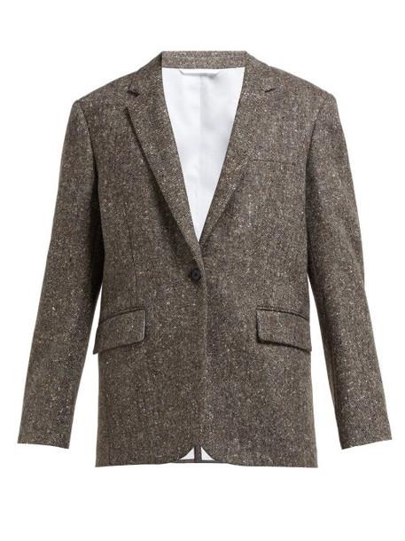 Calvin Klein 205w39nyc - Oversized Single Breasted Wool Tweed Blazer - Womens - Beige