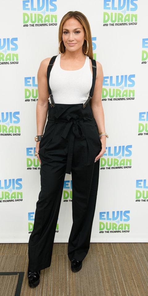 pants jennifer lopez celebrity black and white top