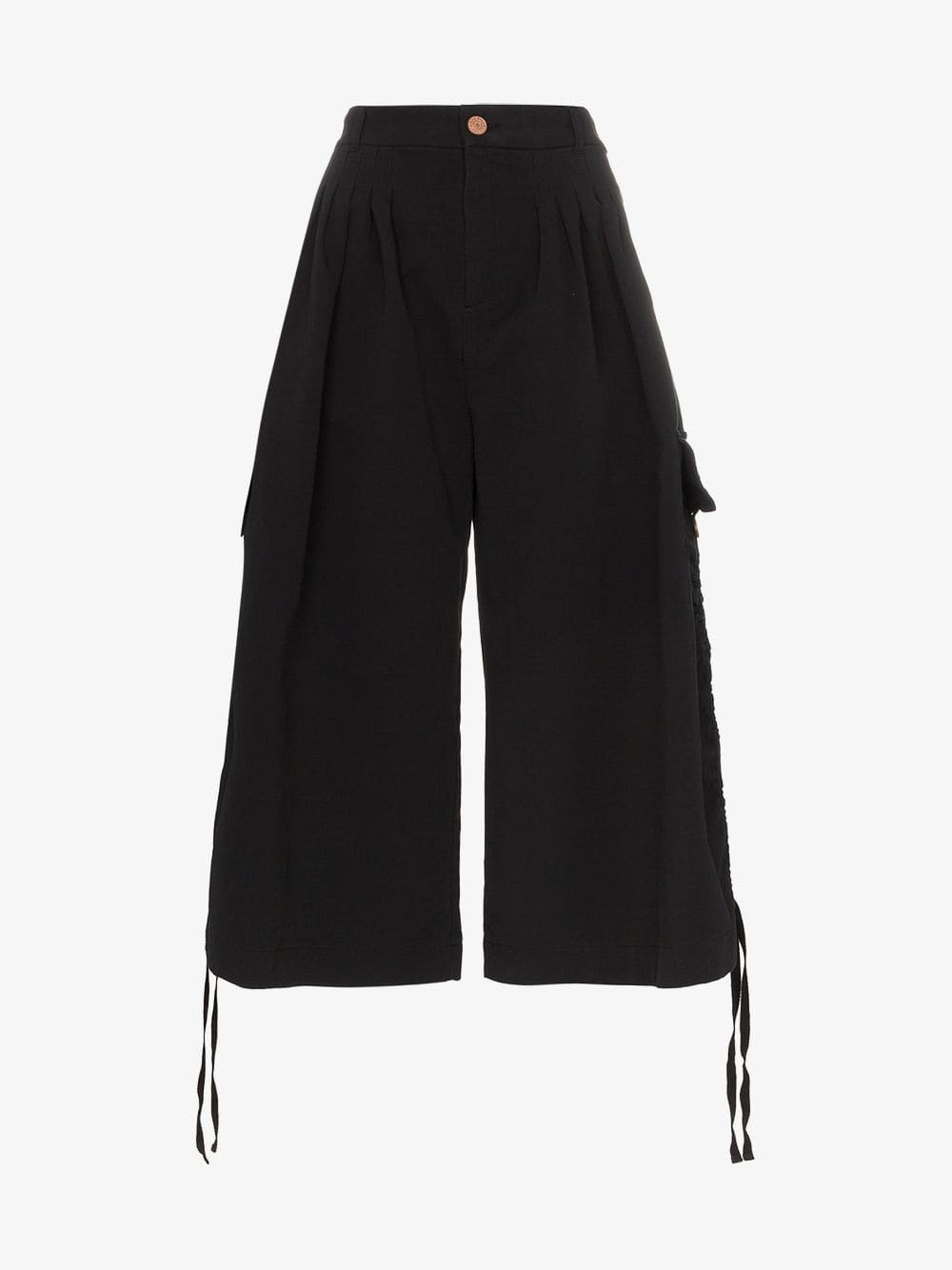 See By Chloé See By Chloé black wide leg cotton cargo trousers