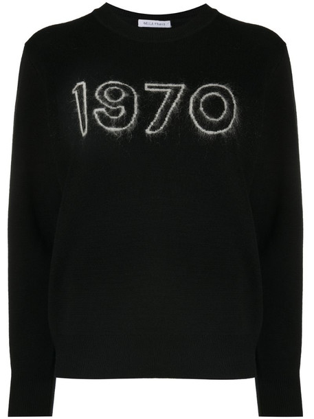 Bella Freud 1970 Glow jumper in black