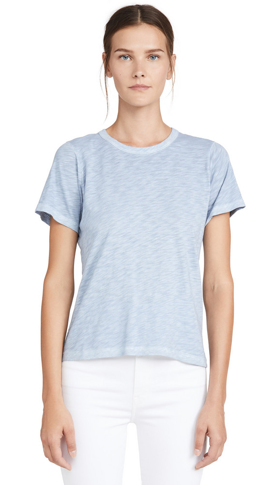 Veronica Beard Jean Laura Crew Neck Tee in chambray