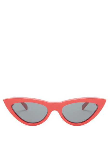Celine Eyewear - Cat Eye Acetate Sunglasses - Womens - Red