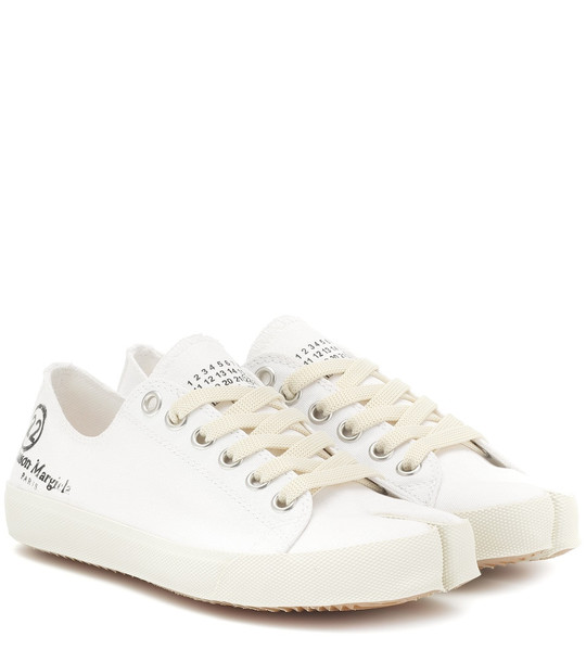 Maison Margiela Tabi canvas sneakers in white
