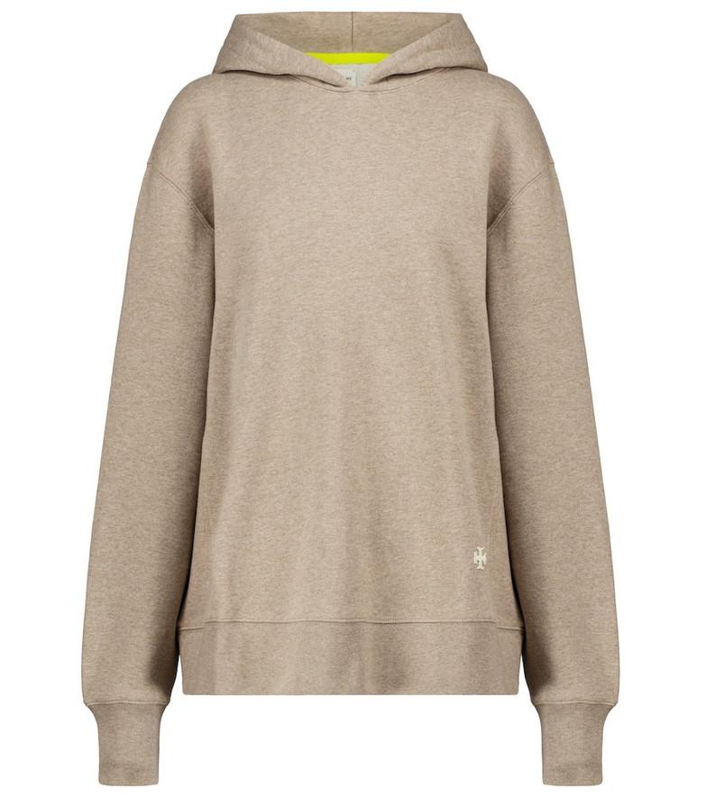 Tory Sport Cotton hoodie in beige