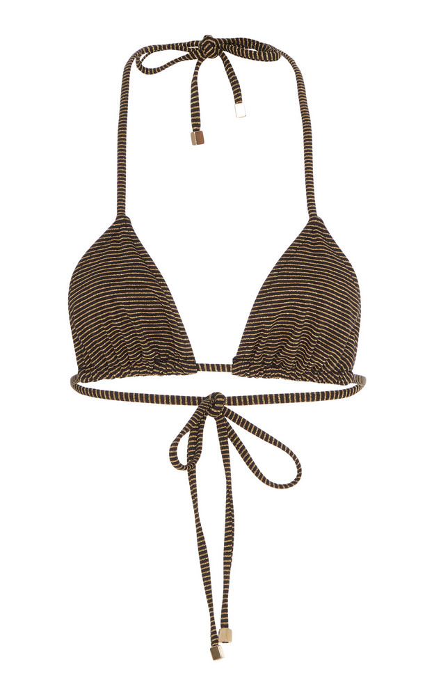 Suboo Nadia Striped Bikini Top in gold
