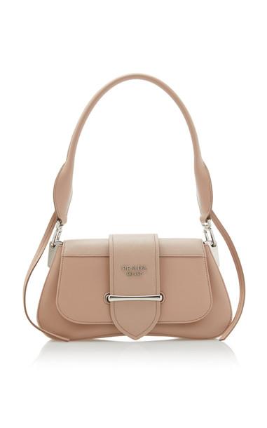 Prada City Calf Leather Shoulder Bag in pink