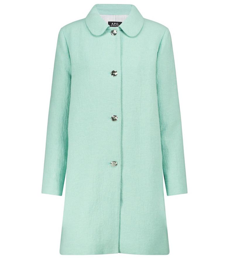 A.P.C. Poupée coat in green