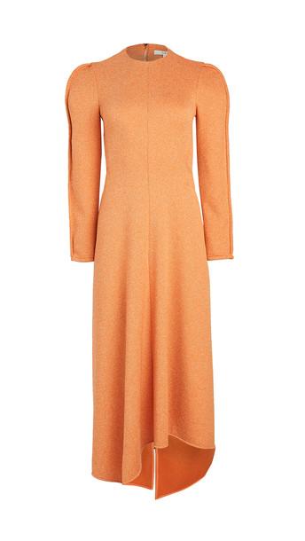 Tibi Origami Dress in orange