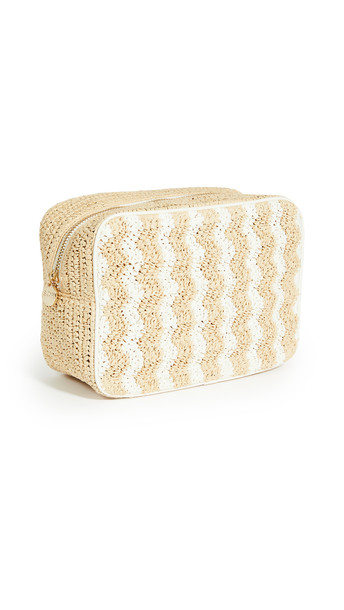 Stoney Clover Lane Woven Large Pouch in natural