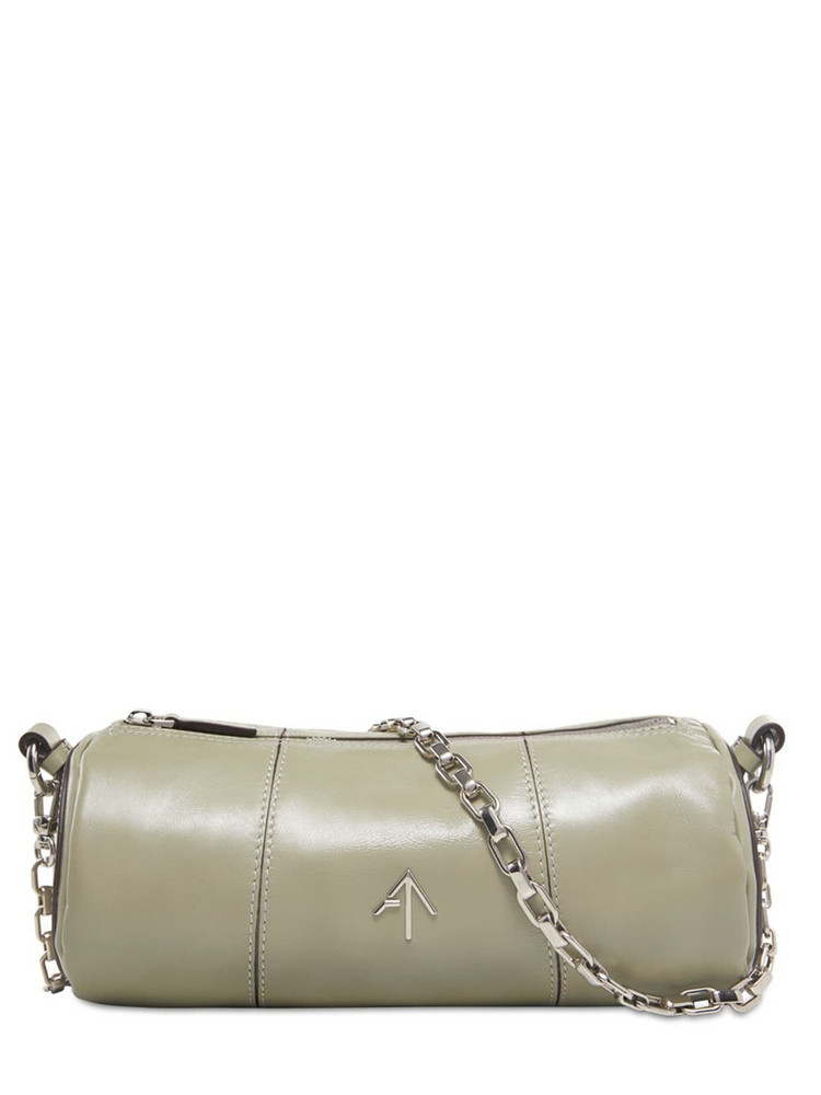 MANU ATELIER Cylinder Soft Leather Shoulder Bag in green