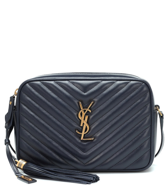 Saint Laurent Lou Camera leather crossbody bag in blue