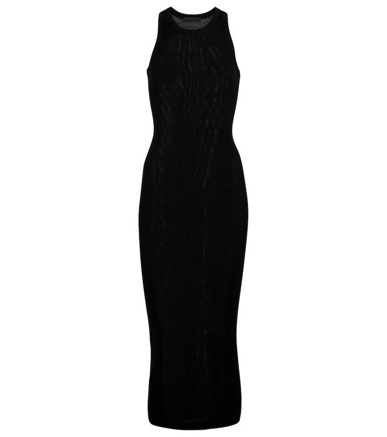 WARDROBE.NYC Cotton jersey midi dress in black