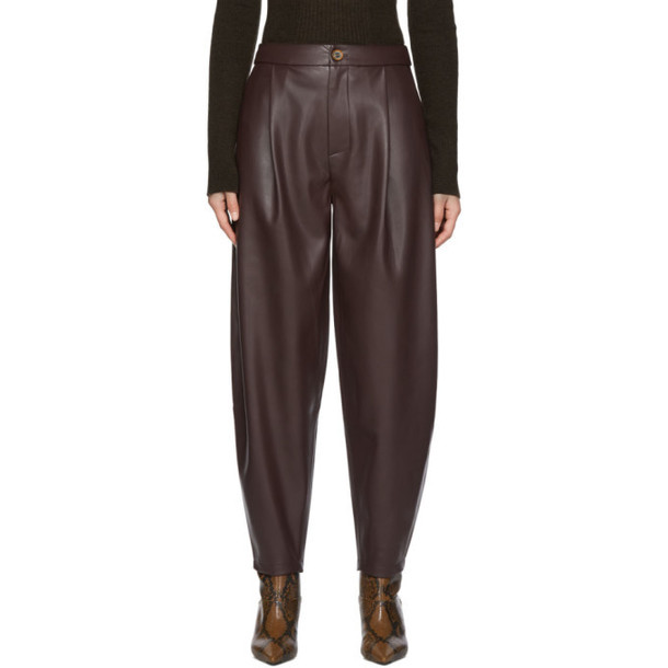 Aeron Purple Faux-Leather Fran Trousers