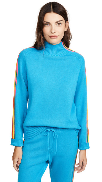 Chinti and Parker Ripple Sweater in turquoise / multi