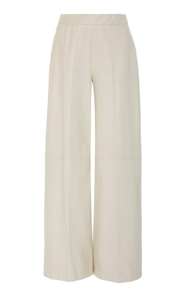 Rosetta Getty High-Rise Leather Culottes in white