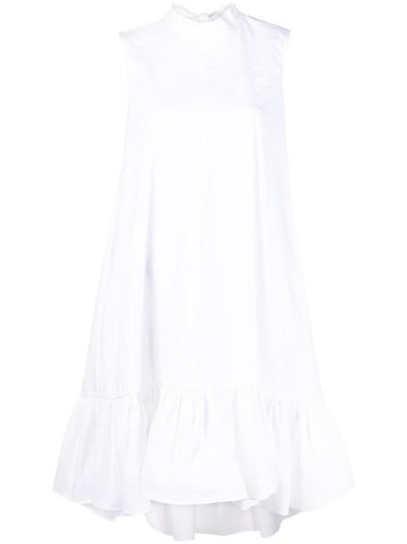 RED Valentino bow-detail high-low dress in white