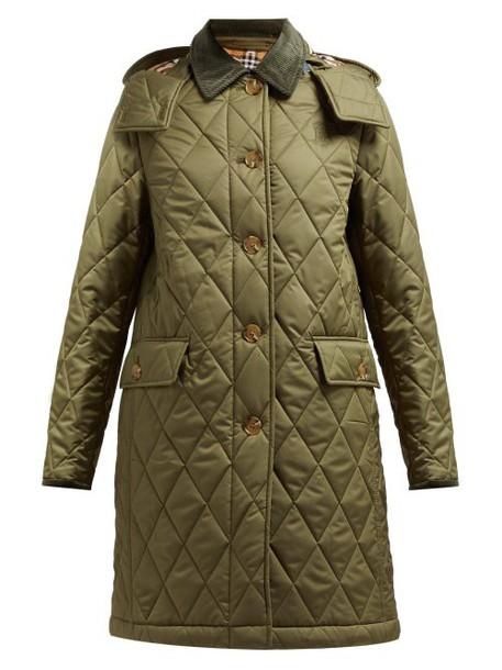 Burberry - Dareham Diamond Quilted Jacket - Womens - Green