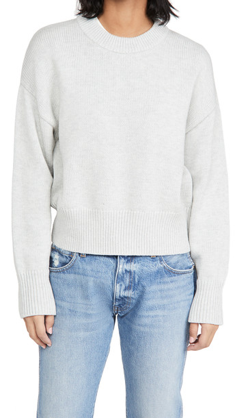 Alex Mill Cozy Crew Neck Sweater in grey / silver