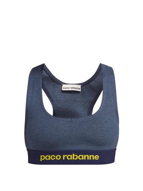 bra sports bra dark jacquard blue dark blue underwear