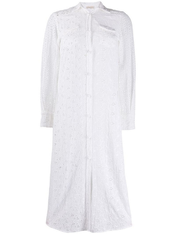 Anjuna broderie anglaise midi dress in white