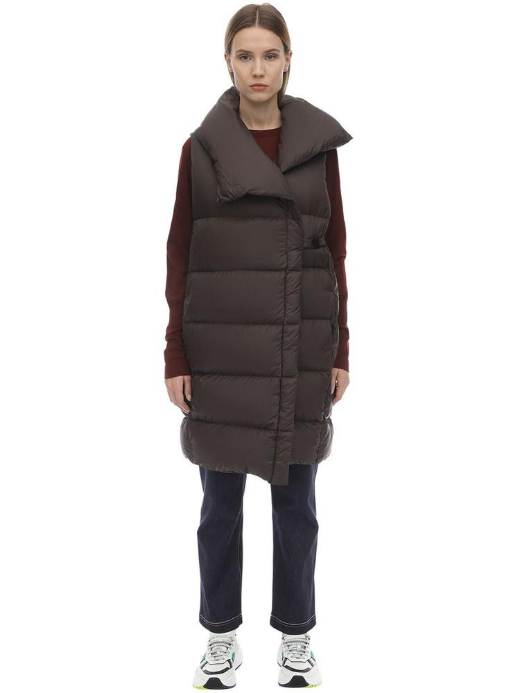 FALKE Nylon Down Jacket in taupe