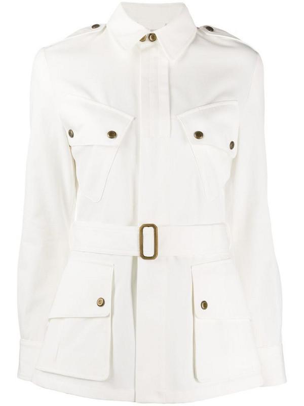 Ralph Lauren Collection belted denim jacket in white