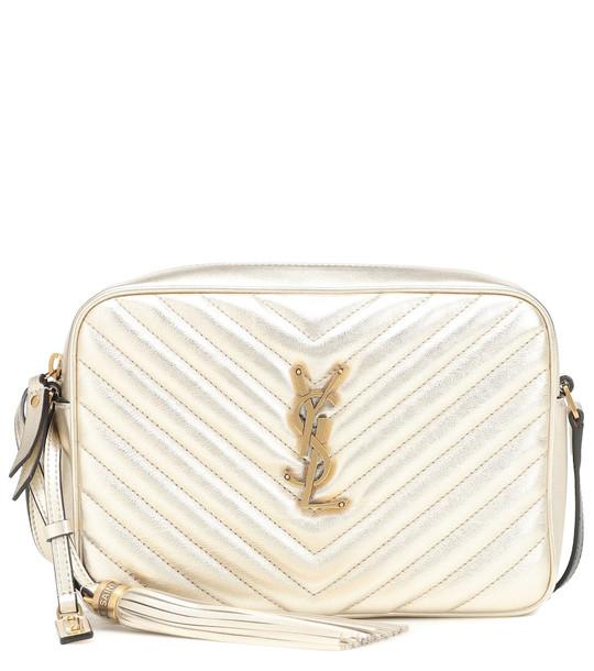 Saint Laurent Lou Camera leather crossbody bag in metallic