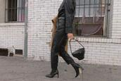 song of style,blogger,jumpsuit,belt,bag,shoes,coat