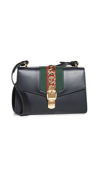 What Goes Around Comes Around Gucci Black Leather Sylvie Shoulder Bag