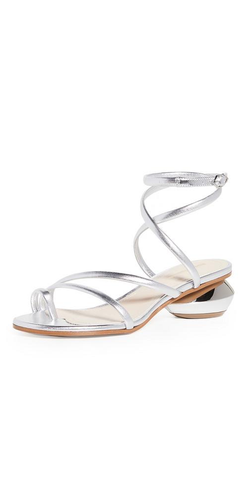 Nicholas Kirkwood Beya Maxi 45mm Sandals in silver