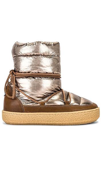 Isabel Marant Zimlee Boot in Brown,Metallic Copper