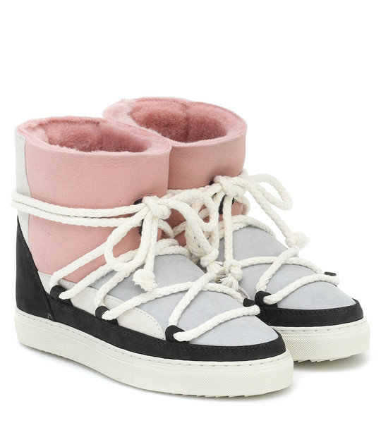 Inuikii Exclusive to Mytheresa – Patchwork suede boots in pink