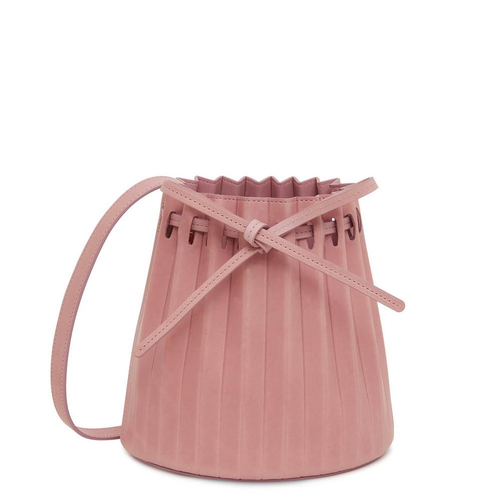 Mansur Gavriel Mini Pleated Bucket Bag - Cipria