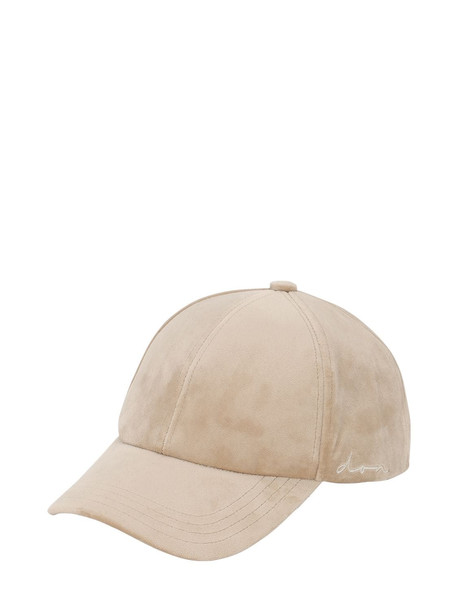 DON Velvet Baseball Hat in ecru