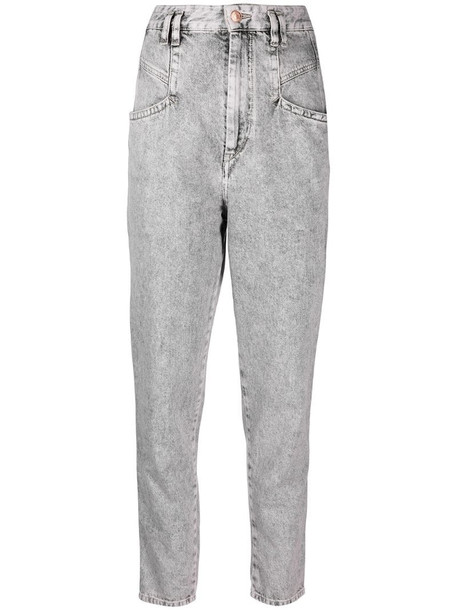 Isabel Marant acid wash tapered jeans in grey