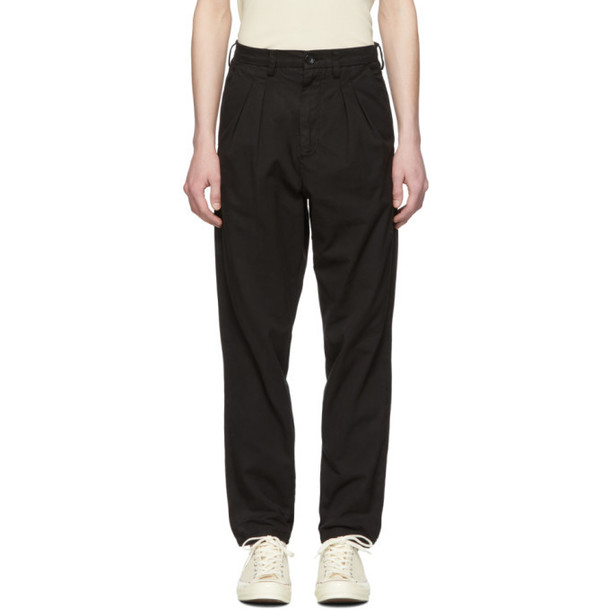 Billy Black Double Pleated Trousers