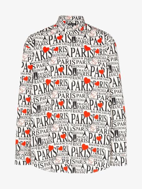 Balenciaga Paris logo print cotton shirt