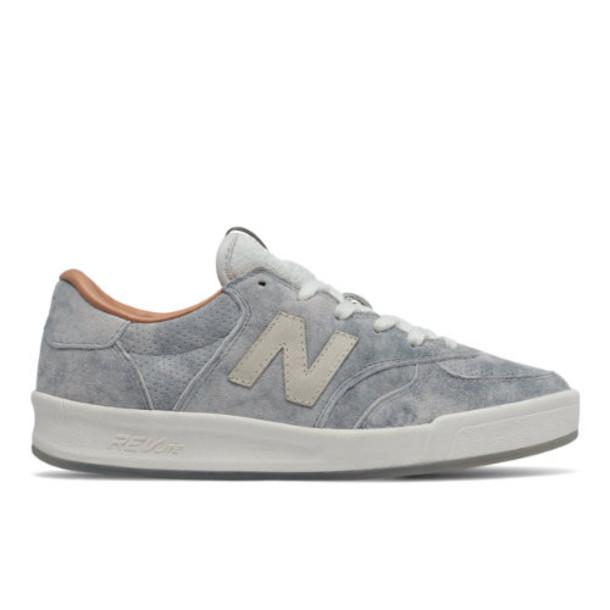 New Balance 300 NB Grey Women's Court Classics Shoes SilverOff White (WRT300GD)