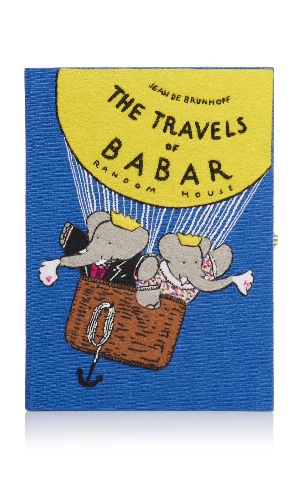 Olympia Le-Tan The Travels of Babar Clutch in blue
