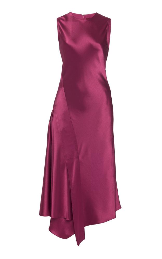 Sies Marjan Vanessa Crinkled Satin Midi Dress Size: 0 in purple