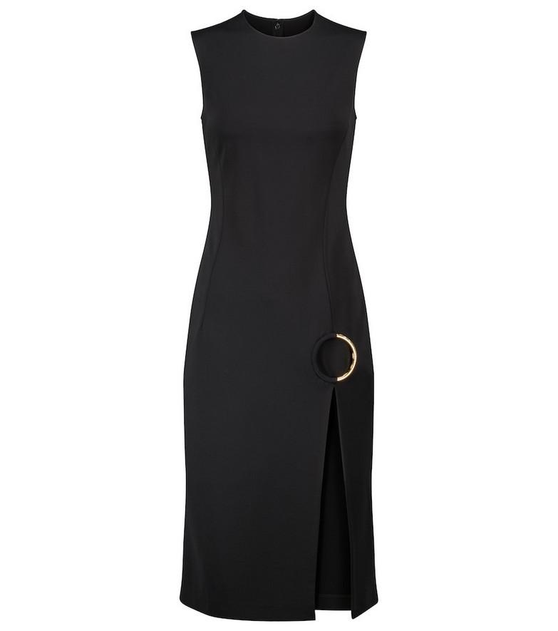 Versace Embellished midi dress in black