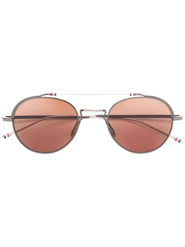 Thom Browne Eyewear TBS912 aviator-frame sunglasses in black