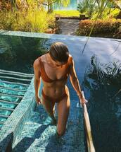 swimwear,bikini top,bikini,bikini bottoms,rosie huntington-whiteley,model off-duty,celebrity