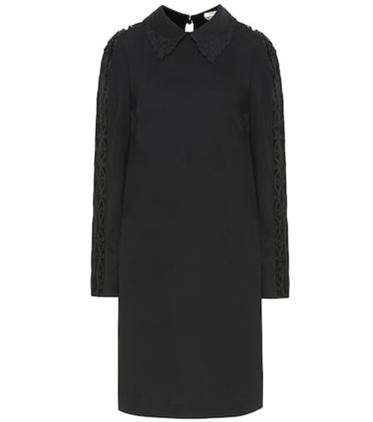Fendi Stretch-cady dress in black