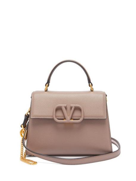 Valentino - V-sling Small Leather Shoulder Bag - Womens - Grey