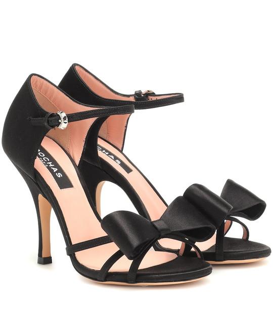 Rochas Satin sandals in black