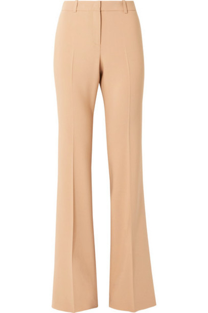 Michael Kors Collection - Stretch Wool-blend Flared Pants - Sand