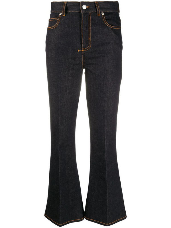 Alexander McQueen high-rise flared jeans in black