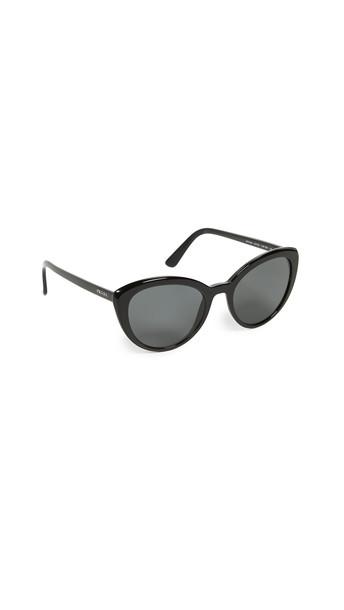 Prada Rounched Ultravox Sunglasses in black