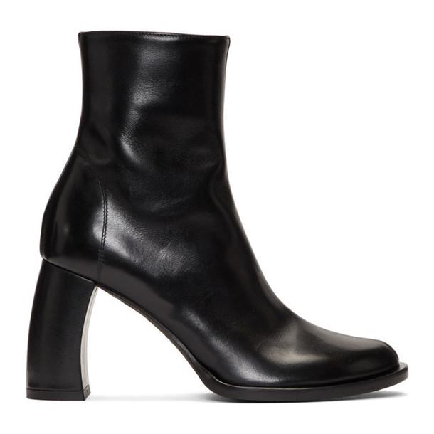 Ann Demeulemeester Black Banana Heel Boots
